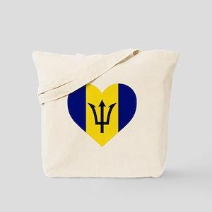 Barbados Heart Tote Bag
