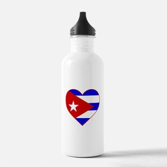 Cuba Heart Water Bottle