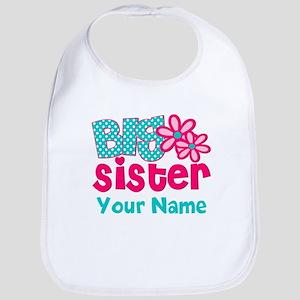 Big Sister Teal Pink Personalized Bib