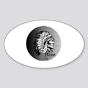 Rise Up - Be A Warrior Sticker (Oval)