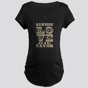 Creme Rawhide Love Gil Favor Maternity T-Shirt