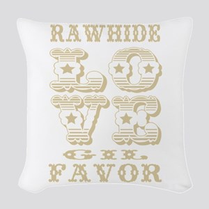 Creme Rawhide Love Gil Favor Woven Throw Pillow