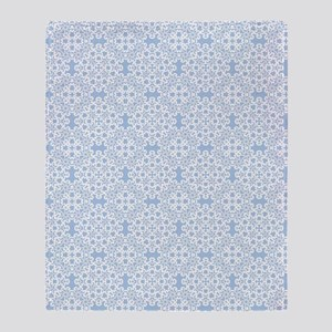 Placid Blue & White Lace 2 Throw Blanket