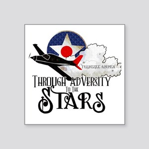 """Red Tails Square Sticker 3"""" x 3"""""""