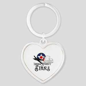 Red Tails Heart Keychain