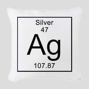 47. Silver Woven Throw Pillow