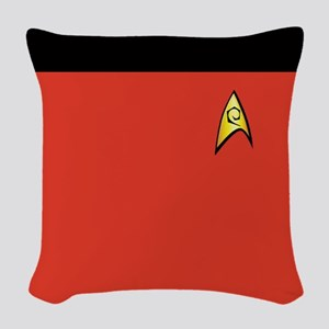 Red Shirt Classic Trek Woven Throw Pillow