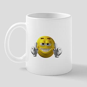 Rude Emoticon Finger Mug