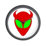 Evil Alien Wall Clock