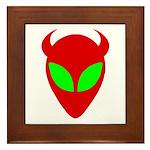 Evil Alien Framed Tile