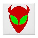 Evil Alien Tile Coaster