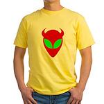 Evil Alien Yellow T-Shirt