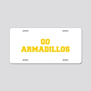 Armadillos-Fre yellow gold Aluminum License Plate