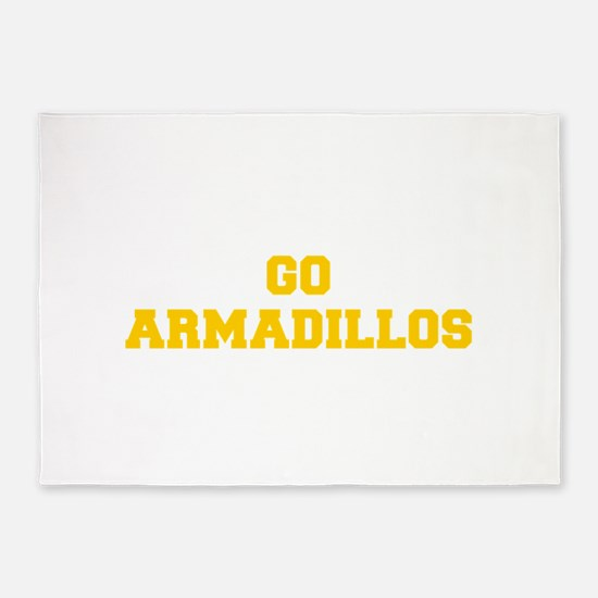 Armadillos-Fre yellow gold 5'x7'Area Rug