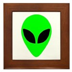 Alien Head Framed Tile