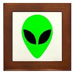Alien Head Framed Tile