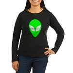 Alien Head Women's Long Sleeve Dark T-Shirt