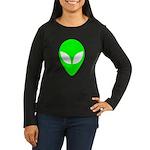 Alien Head Women's Long Sleeve Dark T-Shirt