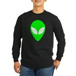 Alien Head Long Sleeve Dark T-Shirt