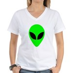 Alien Head Women's V-Neck T-Shirt