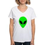 Alien Head Women's V-Neck T-Shirt