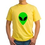 Alien Head Yellow T-Shirt