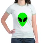 Alien Head Jr. Ringer T-Shirt