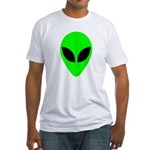 Alien Head Fitted T-Shirt
