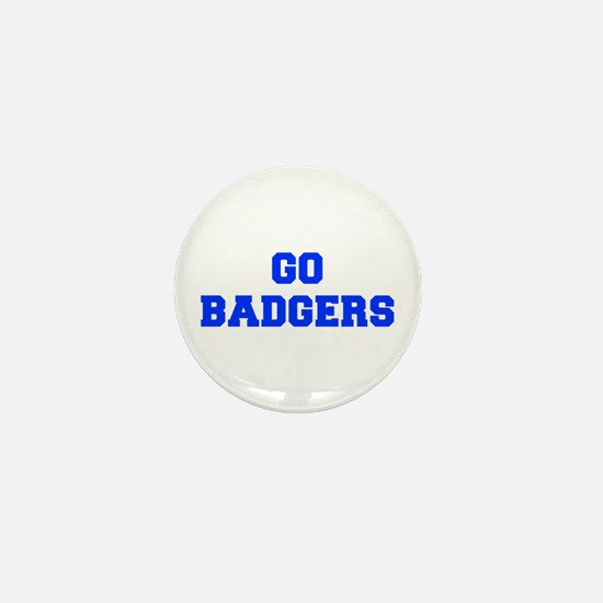Badgers-Fre blue Mini Button
