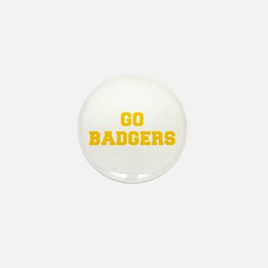Badgers-Fre yellow gold Mini Button