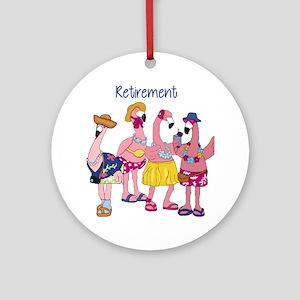 Retired Flamingos Ornament (Round)