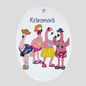 Retired Flamingos Ornament (Oval)