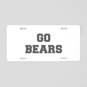 BEARS-Fre gray Aluminum License Plate