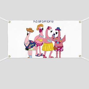 Retired Flamingos Banner