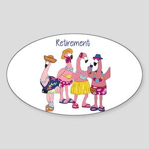 Retired Flamingos Sticker