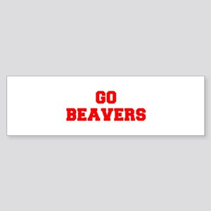 BEAVERS-Fre red Bumper Sticker