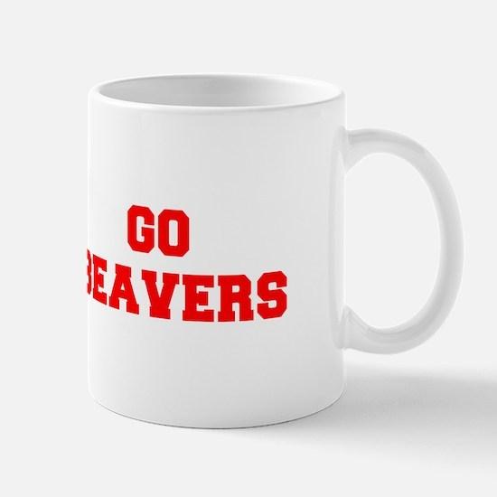 BEAVERS-Fre red Mugs