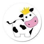 King Cow Round Car Magnet
