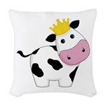 King Cow Woven Throw Pillow