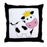 King Cow Throw Pillow