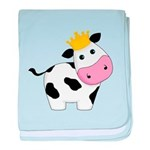 King Cow baby blanket