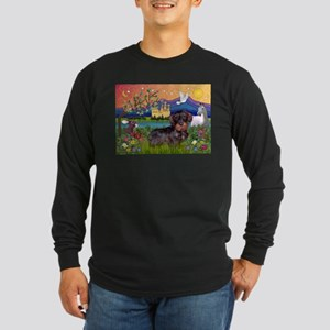 Fantasy / Wire Haired Dachshund Long Sleeve Dark T