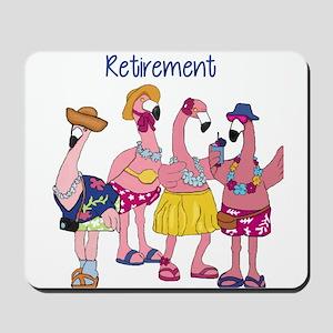 Retired Flamingos Mousepad