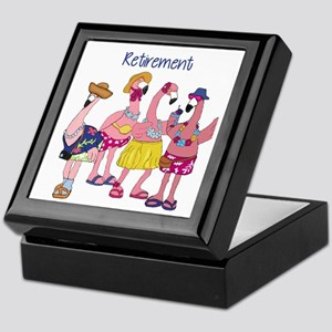 Retired Flamingos Keepsake Box
