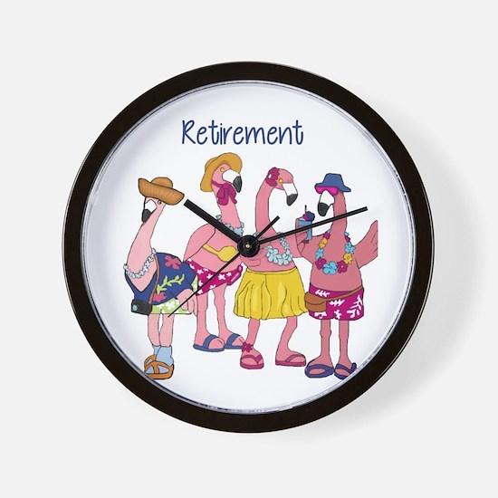 Retired Flamingos Wall Clock