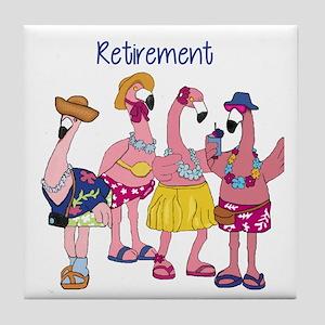 Retired Flamingos Tile Coaster