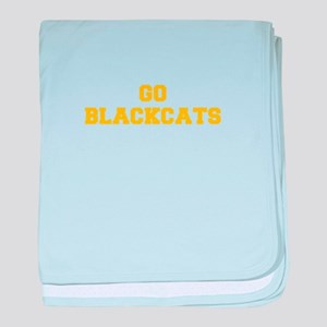 Blackcats-Fre yellow gold baby blanket