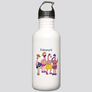 Retired Flamingos Water Bottle