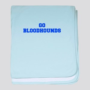Bloodhounds-Fre blue baby blanket