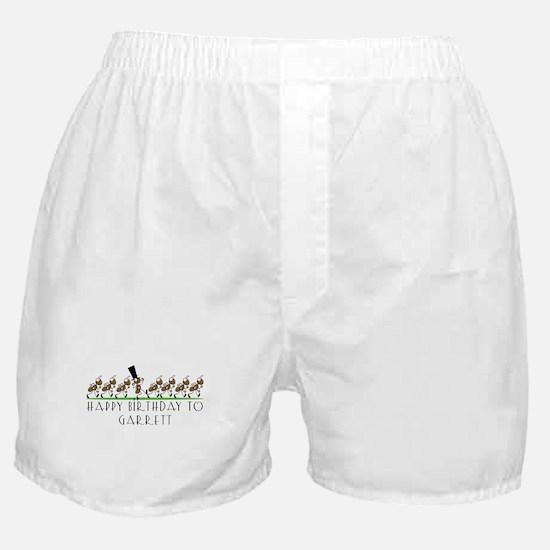 Happy Birthday Garrett (ants) Boxer Shorts
